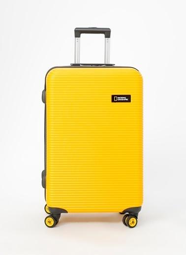 National Geographic National Geographic Ng-Tr 01 Orta Boy Sarı Çekçekli Sert Valiz Sarı